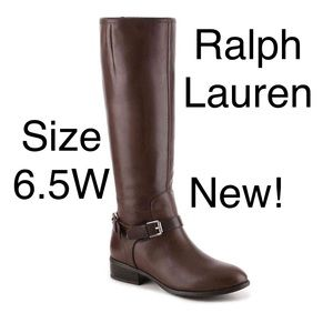 Ralph Lauren Marion Riding Boot 6.5 wide